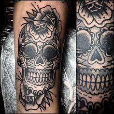 #tattoo #mexicanskulltattoo