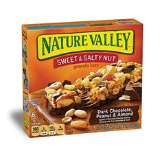 Nature Valley Granola Bars Sweet and Salty Nut Dark Chocolate Peanut  Almond 6 Bars  12 oz * Click on the image for additional details. Note: It's an affiliate link to Amazon.
