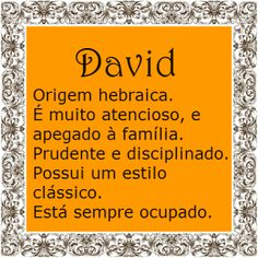 Significado do nome David | Significado dos Nomes