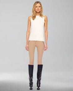 Stretch Gabardine Riding Pants - Lyst