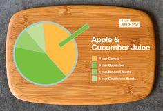 Apple and cucumber juice #juiceoftheday #7dayjuicepal