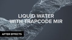 More Info: Today, we take a look at how to create stylistic water/liquid using Trapcode Mir. Special thanks to our friendly sponsors from Squarespace. For a ...