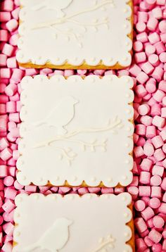 Little Big Company The blog, beautiful bird cookies featured on P& J by Design's Lovebird wedding table