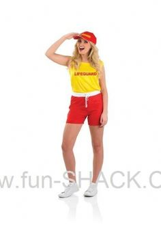 6085982bb4f4 Female Lifeguard Fancy Dress Fun Shack