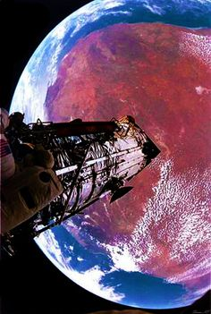 Yearning of my home. 25th anniversary of the Hubble Space Station.