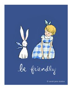 This fine art print is created from a hand drawn & digitally colored illustration signed by Sarah Jane. Belle And Boo, Spring Art, Cute Images, Cute Illustration, Illustrations, Art For Kids, How To Draw Hands, Character Design, Fine Art Prints