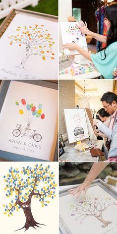 28 Creative Guestbooks Ideas - Finger Prints