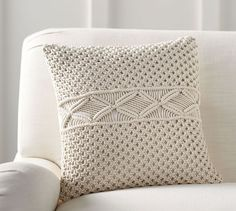 Macrame Pillow Cover | Pottery Barn