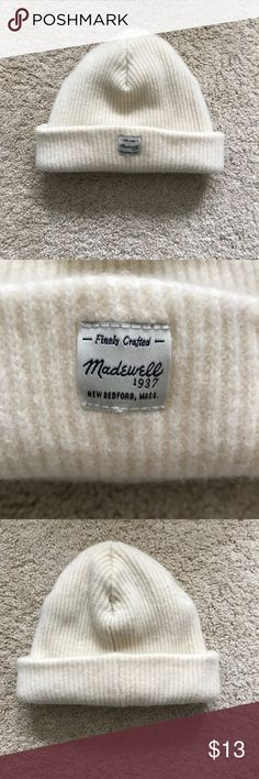 Madewell Hat This is a knit sweater material hat. It folds up to show the label. Very soft and warm! It is in excellent condition. Worn only once and there are no signs of wear. Madewell Accessories Hats