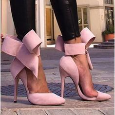 Charming Removable Big Bow High Heel Heels Shoes - Meet Yours Fashion - 1