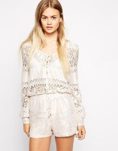 ASOS Lace Gypsy Playsuit