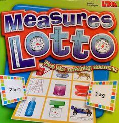 Measures Lotto - plaatsnr. SL WISK/153 #Rekenen #Maten #LagereSchool
