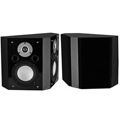 Fluance XLBP Wide Dispersion Bipolar Surround Sound Speakers for Home Theater Black Ash >>> You can get additional details at the image link. Home Stereo Speakers, Satellite Speakers, Ceiling Speakers, Home Theater Speakers, Surround Sound Speakers, Surround Sound Systems, Stereo Headphones, Dark Walnut, Bipolar