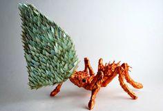 ¿Qué hacer con los CDs? Esculturas animales