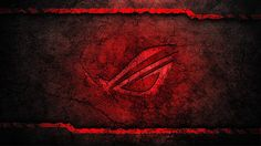 asus rog republic of gamers logo grunge background hd wallpaper  1920x1080 a516.