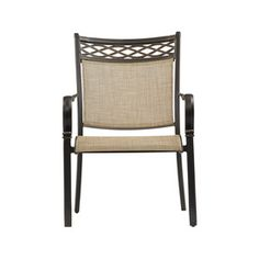 Garden Treasures Set of 2 Crescent Cove Aged Bronze Sling Aluminum Stackable Patio Dining Chairs $142
