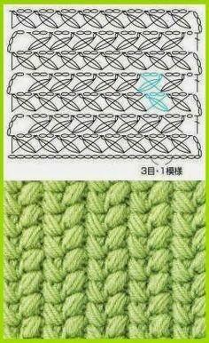 Delicadezas en crochet Gabriela: Patrones de puntos fantasía