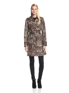 8ac41895667 Via Spiga Women's Animal Print Trench Coat, Leopard, M at Amazon Women's  Coats Shop