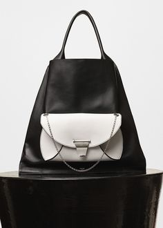 Medium Shopper Handbag with Clutch in Calfskin and Lambskin Lining - Céline