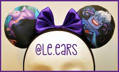 Wonderful Ursula ears!!!  #LeEars #disneyland #dlr #wdw #disneyparks #magickingdom #annualpassholder #magicband #disneymagic #disneyinspired #custommickeyears #mickeyears #minnieears #etsy #custommade #ursula #villains #littlemermaid #disney #disneycharacter #showyourdisneyside #supporthandmade #smallbusiness by le.ears