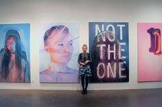 """jenmann: """" Me in front of my work at my Q&A opening Nov 20 2014 - photo taken by Katie Pedersen www.jenmann.com """""""