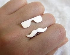 sunglasses and mustache ring. soo cute