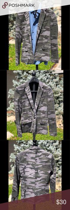 373e2c365 Zara men's size M Camouflage jacket sports coat Great used condition Zara  men's size M camouflage