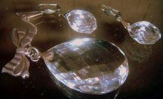 Brooch earrings Victorian England rock Crystal от ODMIVINTAGE