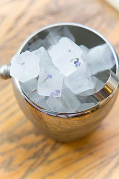 Lemon Drop Lavender Martinis and Herb-Infused Ice Cubes Lavender Martini, Homemade Lemonade, Martinis, Lemon Recipes, Ice Cubes, Vodka, Wedding Stuff, Alcohol, Herbs