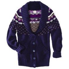 Fairisle Shawl Collar Cardigan - Only $9!!