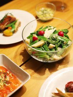 春野菜とアンチョビ、パルミジャーノのサラダ