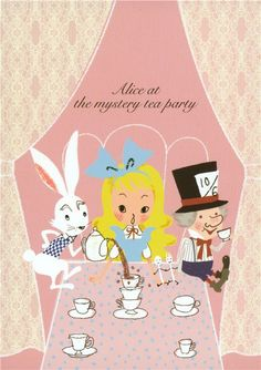 cute Shinzi Katoh postcard Alice in Wonderland - Postcards ...