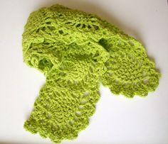 Handmade Crochet Pineapple Scarf  Wool Acrylic Mix by PureCraft, £20.00
