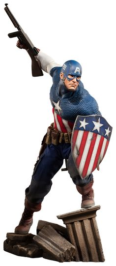 """Captain America by Sideshow Collectibles — 22"""" (55.88cm) tall"""