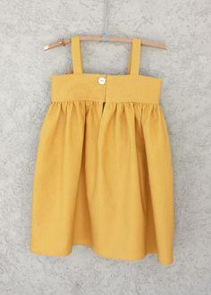Mustard Yellow Big Bow Dress back.