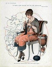 Knit Art, Crochet Art, Yarn Images, Illustrations, Illustration Art, Knitting Magazine, Vintage Images, Vintage Ideas, Female Images
