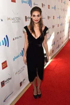 Australian actress, Caitlin Stasey during 25th Annual GLAAD Media Awards in LA 2014...
