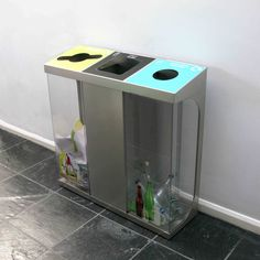 The C-Bin is available with transparent or solid bodies as required. Solid bodies are perfect for hiding unsightly waste stress, whilst transparent bodies allow the recycling streams to be seen, encouraging correct use.