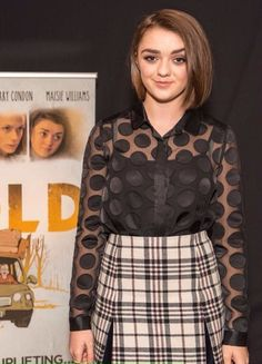 Maisie Williams looking lovely in our Carven Tartan Wool Skirt!   http://www.oxygenboutique.com/Tartan-Wool-Skirt.aspx  #MaisieWilliams #carven #fashion #skirt #tartan #plaid #ootd #shopping #trend #style #boutique