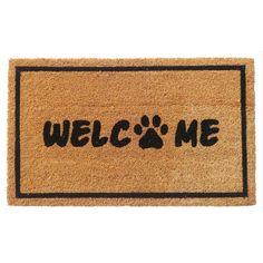 """Aspire """"Welcome"""" Coir Door Mat (Welcome), Black"""