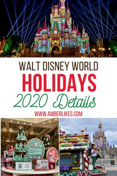 Disney World Christmas 2020 at Magic Kingdom complete guide! Character cavalcades, castle projections, treats, merchandise, and more! #disney #disneyholidays #disneychristmas #magickingdom #disneyworld