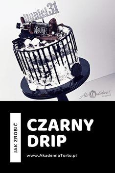 Zobacz jak zrobić czarną polewę czekoladową na tort. Czarny drip! Cake Decorating, Baking, Cupcake, Bonito, Bakken, Cupcakes, Cupcake Cakes, Backen, Sweets