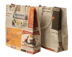 Gift bags from recycled paper