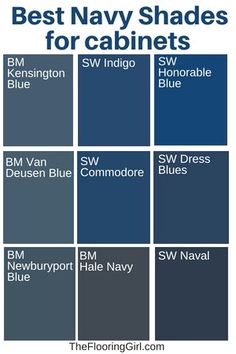 Navy kitchen - Best Paint Colors For Kitchen Cabinets And Bathroom Vanities – Navy kitchen Navy Kitchen, New Kitchen Cabinets, Built In Cabinets, Painting Kitchen Cabinets, Country Kitchen, Kitchen Sink, Kitchen Islands, Rustic Kitchen, Blue Kitchen Ideas