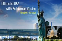 #USAGroupTours2015  #USATours  #USAHolidays Book Budget USA with Bahamas Cruise Tour and #HolidayPackages 2015 from Delhi India specially design for Jain People with Special Jain Food at amazing discounted prices.