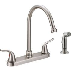 Home Improvement Faucet Brushed Nickel Kitchen Faucet Brushed