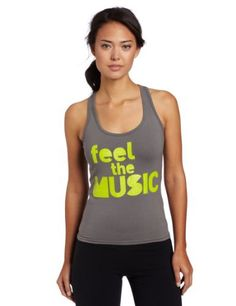 Zumba Fitness LLC Women's Electrify Racerback Top, Gravel, Medium by Zumba Fitness. $11.49. You are the first to arrive (wearing the hottest outfit) and the last to leave (with a ton of new admirers). So, of course you know a must-have when you see it. Step it up in the uber-cool Electrify Racerback and turn that party into a par-taaaay.