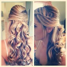 Beautiful long curls with braid - Wedding inspirations