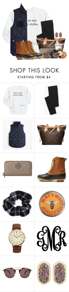"""""""Don't even have to talk to him and he makes my heart flutter"""" by flroasburn ❤ liked on Polyvore featuring Madewell, J.Crew, Louis Vuitton, Tory Burch, Merona, Accessorize, Burt's Bees, BKE, WALL and Oliver Peoples"""