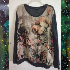 Lightweight floral printed sweater Very thin @ light weight. Forever 21 plus size. Forever 21 Tops Blouses
